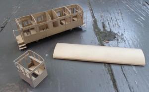 Eerste prototype, met losse coupés.